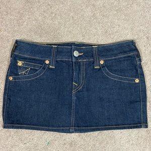 True Religion Denim Skirt Size 27 Made in USA